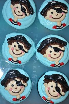 cute pirate cupcakes. These match the invitations from vistaprint!