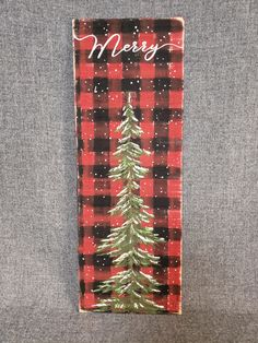 Buffalo plaid Christmas, Christmas tree painting on wood, red and black buffalo check, Farmhouse Christmas pallet art, Merry Christmas Pallet Christmas, Christmas Signs Wood, Christmas Porch, Christmas Mantels, Plaid Christmas, Rustic Christmas, Christmas Projects, Christmas Christmas, Christmas Decorations