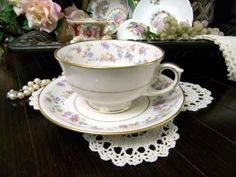 Lamberton China USA Floral Teacup Tea Cup and Saucer  8109 by VintageKeepsakes for $13.95