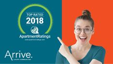 Our communities have been recognized as 2018 Top Rated ApartmentRatings award winners! 👍  Thanks to our wonderful residents for sharing their Arrive experience. Also, shout-out to the hard-working Team Members across the portfolio who take pride in providing exceptional customer service. #IHaveArrived