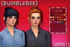 "giannisk-13: ""  ~Bumblebee AF Hair~ A hair I've been working on for a looong time now;) Actually it's a child hair converted for adult. This has 2 versions: One with bangs and one without. You can..."