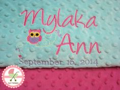 Custom designed personalized baby blankets and other baby products at www.sun7designs.com  Check us out on Facebook at www.facebook.com/sun7designs