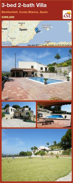 3-bed 2-bath Villa in Benitachell, Costa Blanca, Spain ►€399,000 #PropertyForSaleInSpain