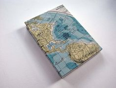 campbell raw press: handbound vintage map journals.  awesome.