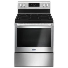 Buy the Maytag Stainless Steel Direct. Shop for the Maytag Stainless Steel 30 Inch Wide Cu. Capacity Free Standing Electric Range with Precision Cooking System and save. Cleaning Oven Racks, Self Cleaning Ovens, Heavy Duty Door Hinges, Food Temperatures, Built In Dishwasher, Single Oven, Steel Manufacturers, Glass Cooktop, The Help