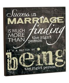 Look what I found on #zulily! 'Success in Marriage' Wall Art by P. Graham Dunn #zulilyfinds