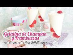 Gelatina de champán y frambuesas con mousse de chocolate blanco   Postre para Fin de año - YouTube