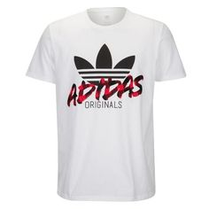 adidas Originals Graphic T-Shirt - Men's at Foot Locker Adidas Outfit, Adidas Shirt, Adidas Men, Mens Polo T Shirts, Tee Shirts, Tees, Shirt Men, Shirt Print Design, Shirt Designs