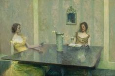 Th. Wilmer Dewing, Η ανάγνωση. 1897. Smithsonian Museum of Art.