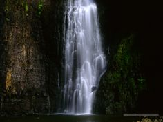 A waterfall in Tahiti- always dreamed of swimming in a waterfall and this was just one of the ones I got to do just that!!! :)