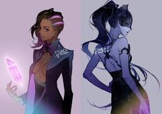 Night outfit for Sombra and Widow
