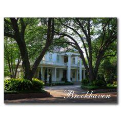 Brookhaven, Mississippi - Historic antebellum home Postcards from Zazzle.com www.zazzle.com