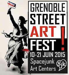 Gros coup de coeur pour ce Grenoble Street Art Fest, bravo à la ville pour cette initiative ! J'avoue, non seulement je me suis intéressée au street art il y a peu de temps, mais il faut dire, si on ne vit pas en ville, à part tomber sur une oeuvre par hasard, il y a peu d'occasion de profiter de cet art. Alors j'ai sauté sur l'occasion, et un conseil : si vous ne savez pas quoi faire ce week-end, pourquoi ne pas venir vous promener à Grenoble ? Rendez-vous à la galerie SpaceJ...