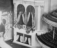 The president's box at Ford's theatre, photographed at the time of Abraham…