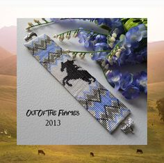 Bead PATTERN Horse Totem Cuff Bracelet Loom by Outoftheflames, $5.50