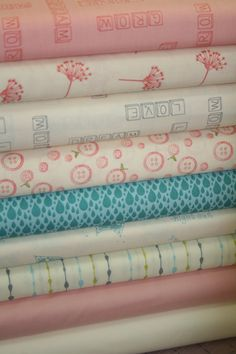 Little Things Organic by Little Figs for Moda  Fabric Fat Quarter Bundle