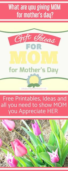 Gift Ideas for Mom for Mother's Day (*aff) Check out the cute printable cards!!