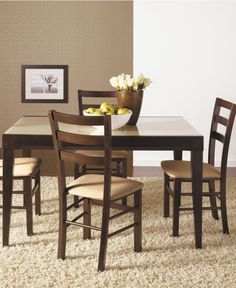 Café Latte Glass Top Dining Table - Shop All Dining Room - Furniture - Macy's