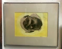 Artist Signed Modernist Litho   By Vera Stravinski  Yellow, Blacks & Grays   Was $350 Sale Price $275  #54401  Rick's Antiques and Home Decor,…