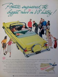1957 Pontiac Classic Car Vintage Advertisement by RelicEclectic, $8.00