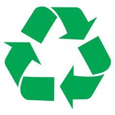 Adhesivo de vinilo símbolo Reciclaje