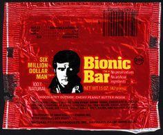 Natural Protein Products Inc - Universal City Studios - Six Million Dollar Man Bionic Bar - 25-cent foil wrapper - 1976 by JasonLiebig, via Flickr