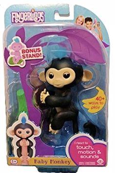 "Fingerlings Baby Monkey ""finn"" Be Novel In Design Electronic & Interactive"