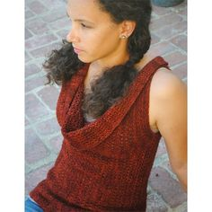 Grace Akhrem Olgas Vest PDF - quirky vest, multiple ways to wear, MadelineTosh merino light yarn