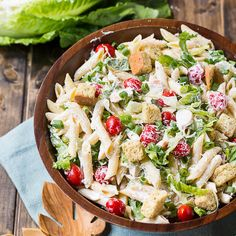 Chicken Caesar Pasta Salad --going to attempt to make this #21dayfix approved #beachbody #makeahealthyversion