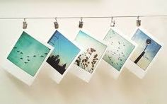 This is a cool way to hang pictures.