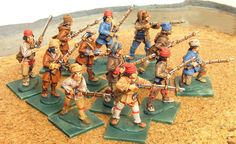 Miniature Soldiers: Compagnies Franches de la Marine and Coureur des bois, French and Indian war 1754-1783