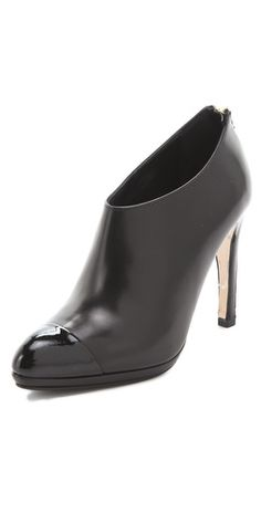 L.K. Bennett Ankle Booties with Back Zip