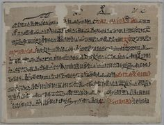 It is clear the teacher found fault occasionally with his pupils hand; the signs written in the upper margin are the teacher's corrected forms of signs imperfectly copied by the scribe. Papyrus Sallier 2