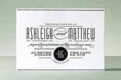 Letterpress Wedding Invitations | PaperCuts Invitation Design