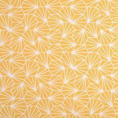 Tissu coton origami jaune - Mondial Tissus