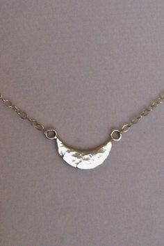 Sterling Silver Crescent Moon Necklace - Valentine by CopperfoxGemsJewelry on Etsy  www.etsy.com/...