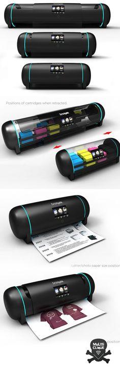 Impressora retrátil se ajusta as suas necessidades! Este conceito tenta corrigir um dos grandes problemas dos equipamentos de impressão, pois, muitas vezes precisamos de diversos equipamentos diferentes para cada tipo de papel.