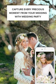 Use Wedding Party to capture all the photos your guests take at your engagement party, bridal shower, rehearsal dinner, wedding reception and more! Sign up for free!