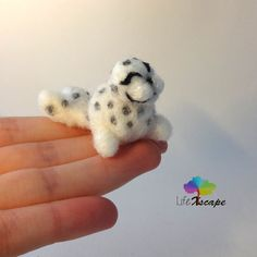 Miniature needle felted animal: happy little seal ready for a new home!