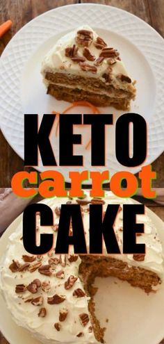 Keto carrot cake, the perfect solution for those o. Keto carrot cake, the perfect solution for those on a low carb ketogenic diet missing carrot cake. It's bursting with flavor and frosted with a rich cream cheese frosting for the ultimate treat. Keto Friendly Desserts, Low Carb Desserts, Low Carb Recipes, Diet Recipes, Easter Keto Recipes, Low Carb Cakes, Low Carb Keto, Sugar Free Carrot Cake, Low Carb Carrot Cake