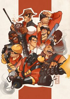 TF2 Print by mutch2manga.deviantart.com