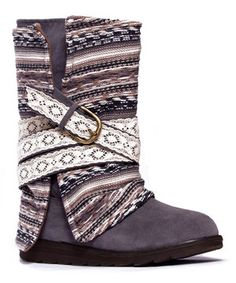 Look what I found on #zulily! Gray Nikki Belt Wrapped Boot by MUK LUKS #zulilyfinds 3 looks in one!