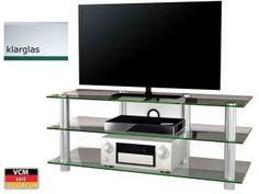 VCM TV-Glasmöbel Jumba Klarglas