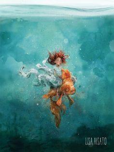 Magazine Illustration, Children's Book Illustration, Fish Tales, Whimsical Art, Funny Art, Art Inspo, Surrealism, Illustrators, Lisa
