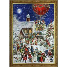 Hot Air Balloon Victorian Style Advent Calendar