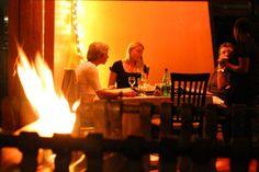 The perfect #dinner spot! #winter #fire