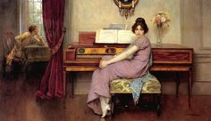 The Reluctant Pianist by William Arthur Breakspeare ( English, 1855–1914)