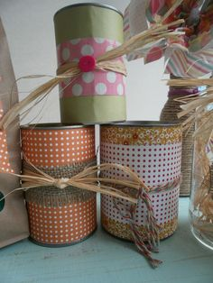 may decorations | wish all my soup cans looked this cute! I will add some handles to ...