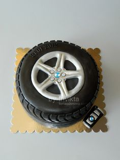 BMW tire birthday cake