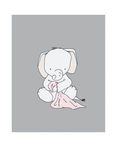 Elephant Nursery Art Nursery Decor by SweetMelodyDesigns on Etsy